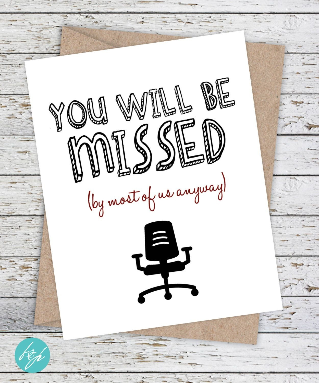 Funny Coworker Card,flairandpaper On Etsy You Will Be Missed (By - We Will Miss You Cards For Coworker Printable Free