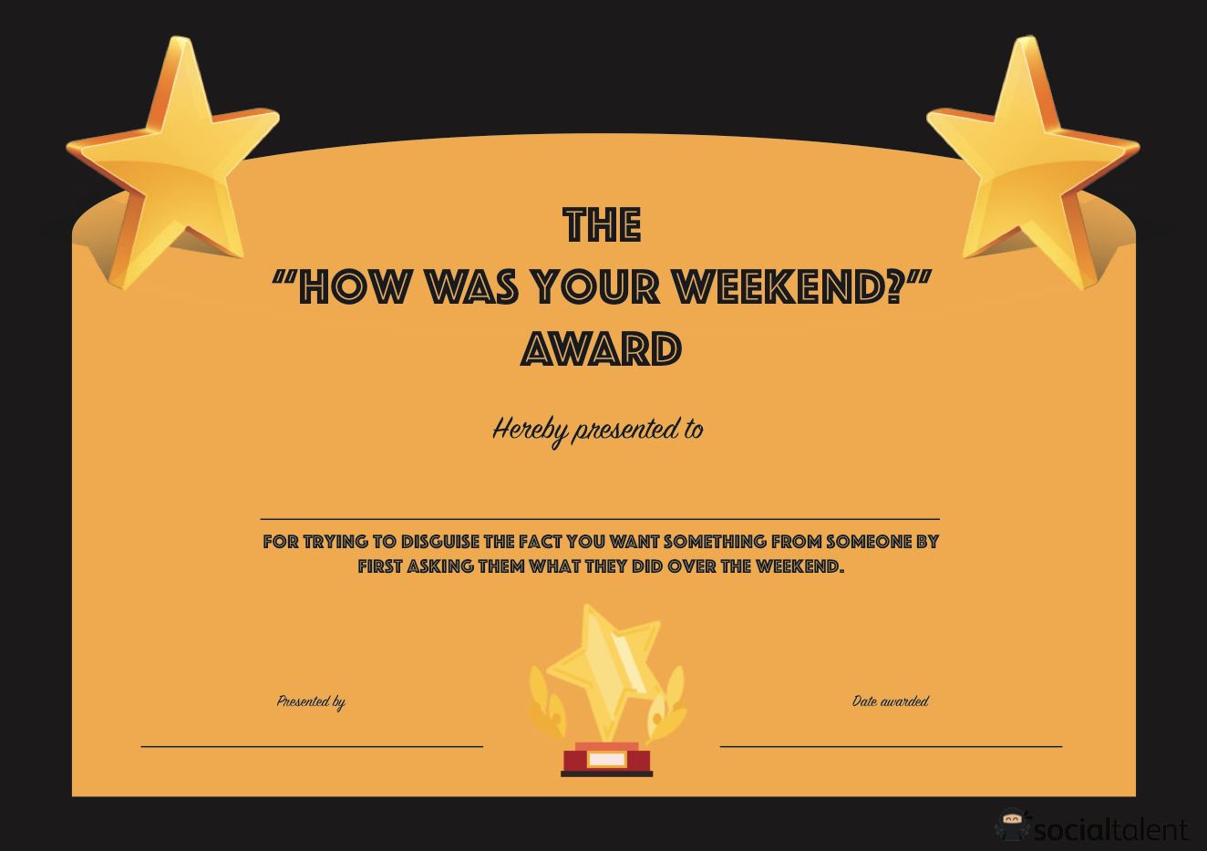 Funny Office Awards | Work | Employee Awards, Award Certificates - Free Printable Funny Office Awards