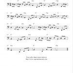 Fur Elise, Free Cello Sheet Music Notes   Free Printable Piano Sheet Music Fur Elise