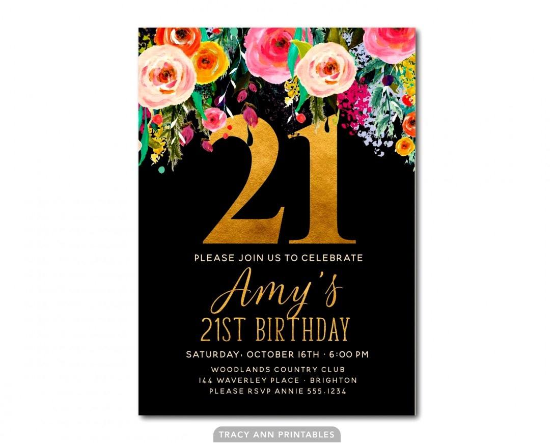 Gallery Of 21St Birthday Invitation Templates Free Printable - 21St Birthday Invitation Templates Free Printable