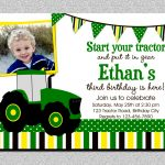 Gallery Tractor Birthday Party Invitations Free Printable John Deere   Free Printable John Deere Birthday Invitations