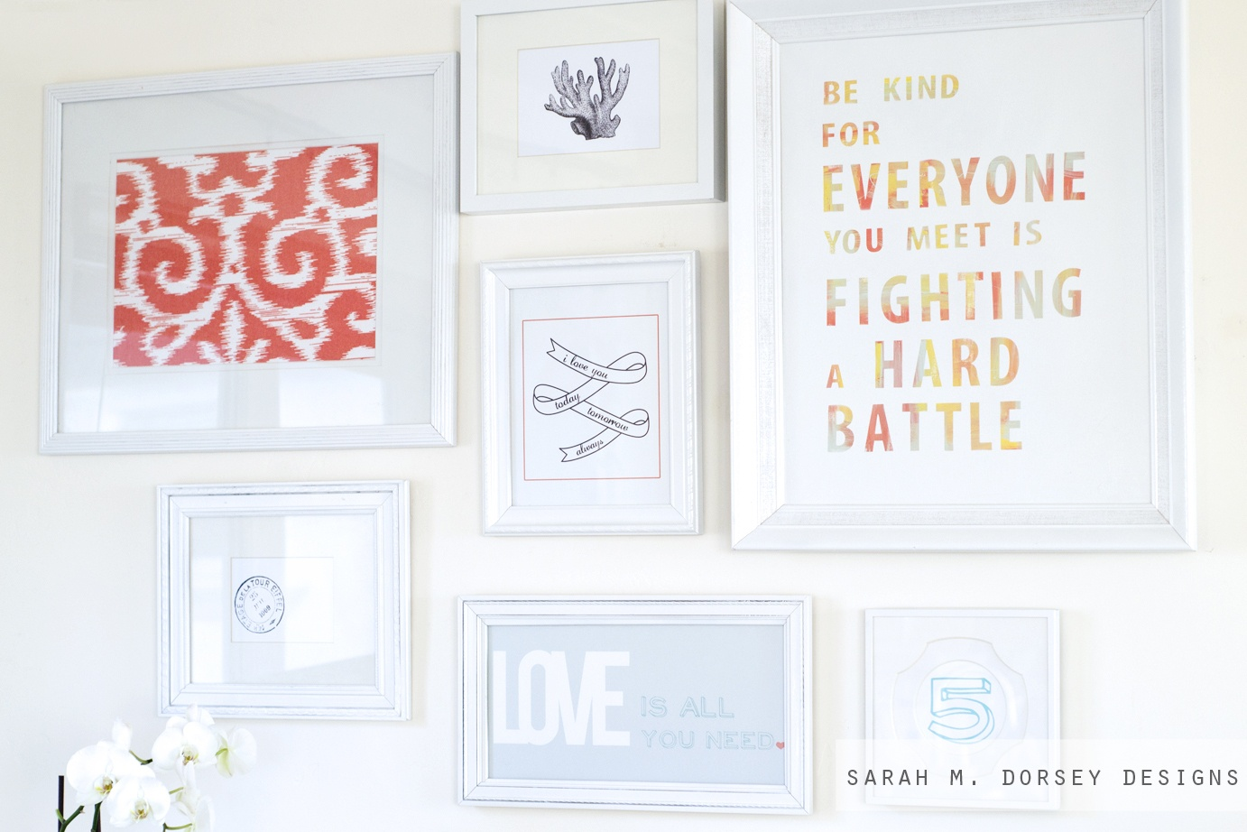 Gallery Wall And Free Printables! - Dorsey Designs - Free Gallery Wall Printables