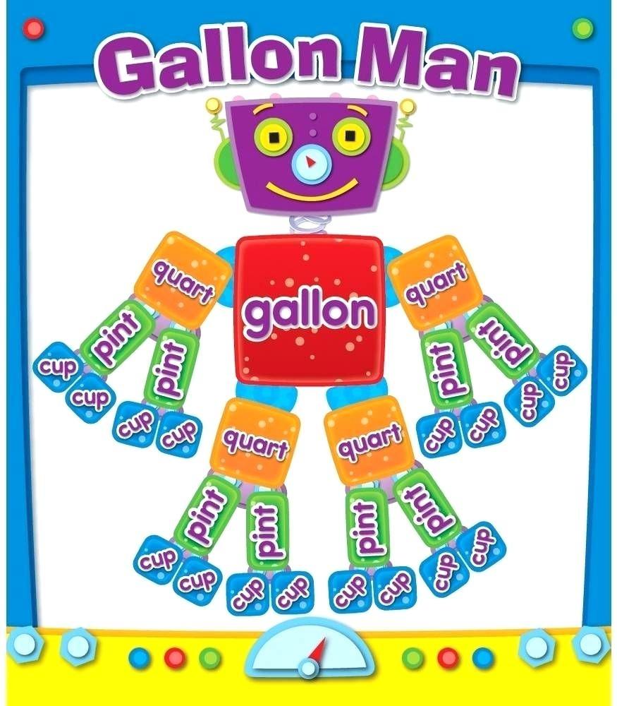 Gallon Man Worksheet Gallon Man Worksheets Photos Gallon Man - Gallon Bot Printable Free