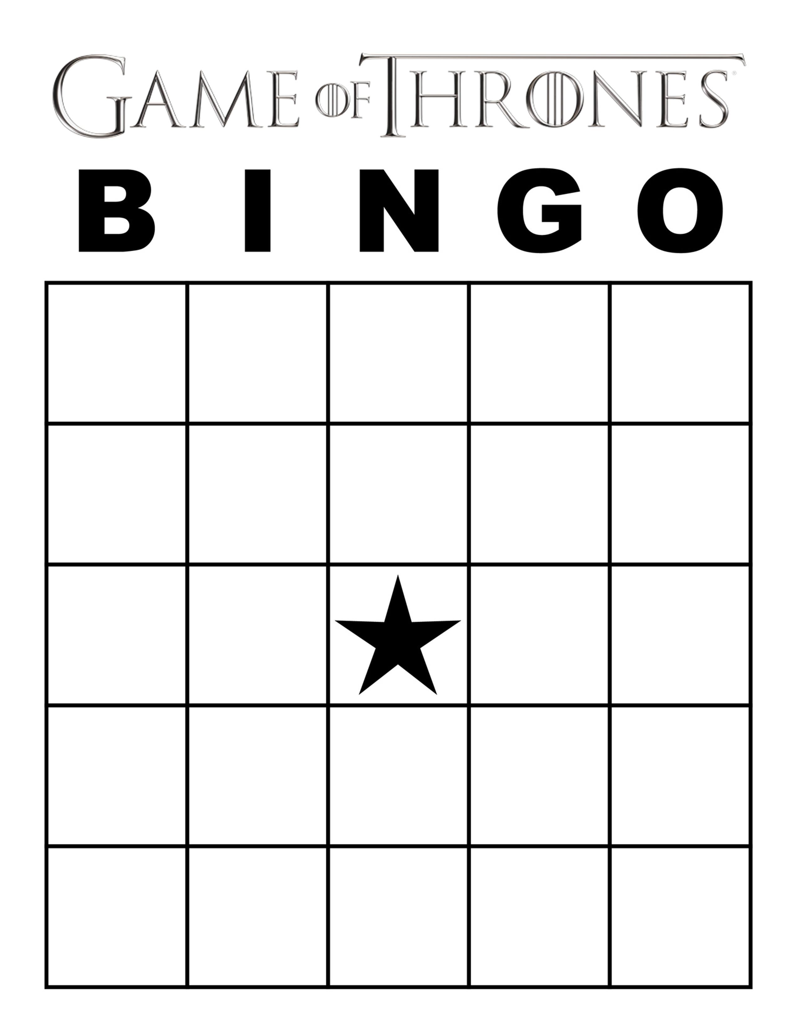 Game Of Thrones Season 7 Bingo – Printable Party Game - Free Printable Bingo Cards 1 100