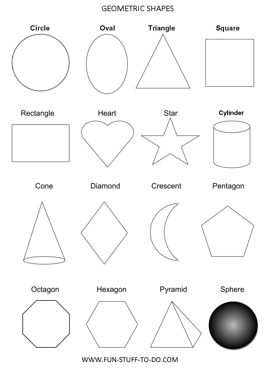 Geometric Shapes Worksheets | Free To Print - Free Printable Geometric Shapes