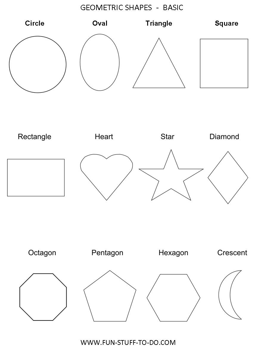 Geometric Shapes Worksheets | Free To Print - Shapes Worksheets Printable Free