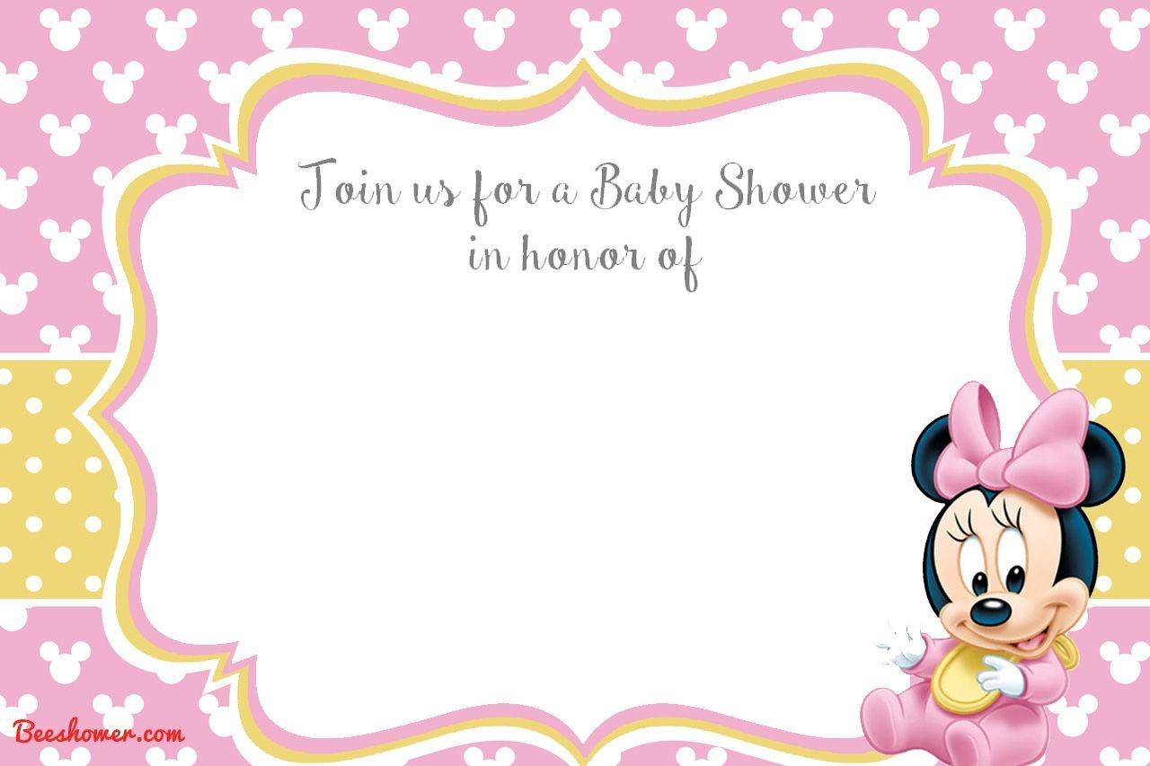 Get New! Free Printable Mickey Mouse Baby Shower Invitation Template - Free Printable Mickey And Minnie Mouse Invitations