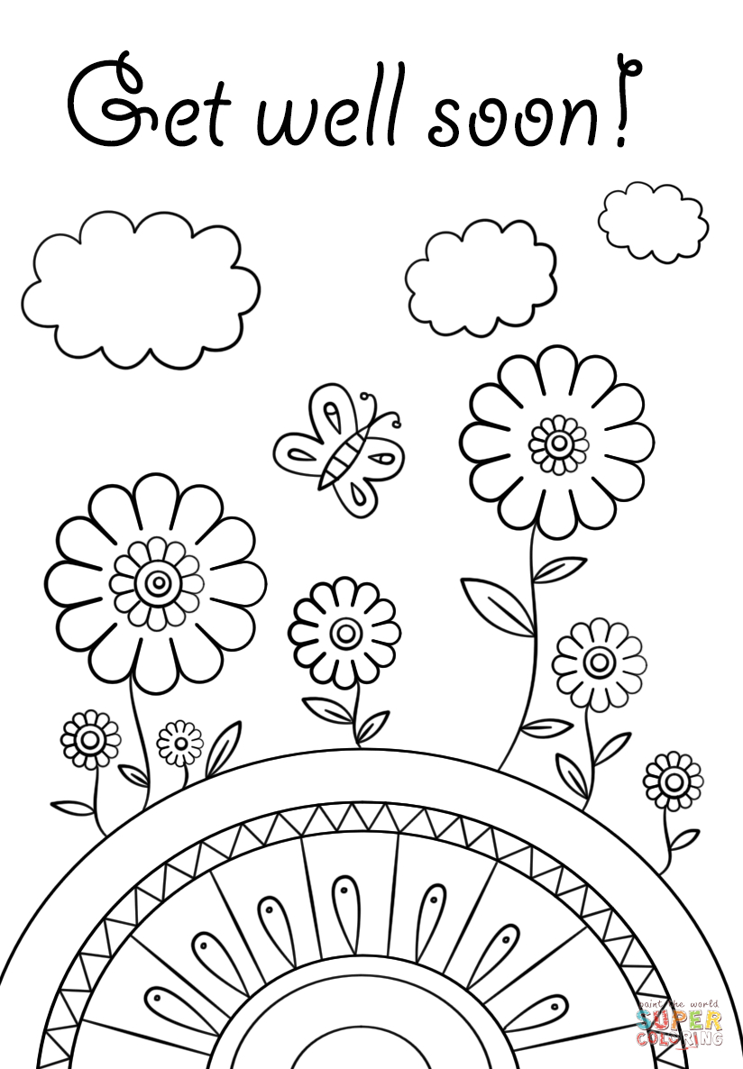 Get Well Soon Coloring Page | Free Printable Coloring Pages | Abe - Free Printable Get Well Cards To Color