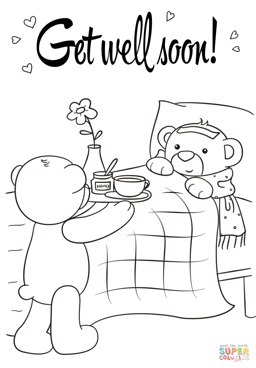 Get Well Soon Coloring Page | Free Printable Coloring Pages | Cards - Free Printable Get Well Cards To Color