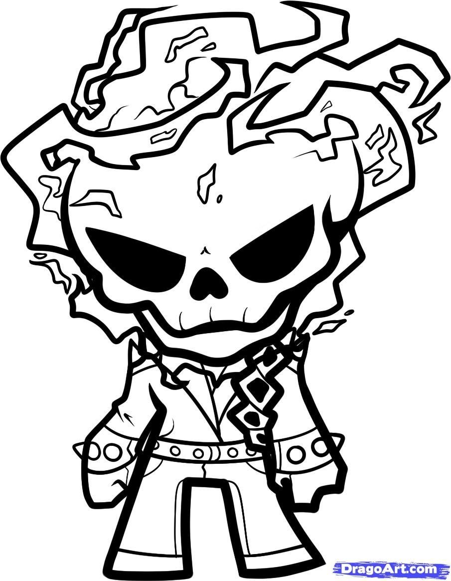 Ghost Rider Coloring Page | Boo In The Zoo Cut Out Ideas | Ghost - Free Printable Ghost Rider Coloring Pages