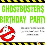 Ghostbusters Birthday Party In 2019 | Kbn Activities For Grade   Ghostbusters Free Printables