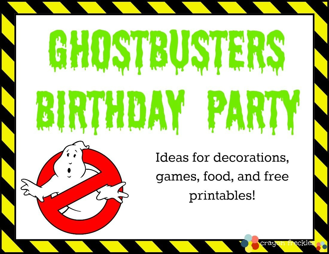 Ghostbusters Birthday Party In 2019 | Kbn Activities For Grade - Ghostbusters Free Printables