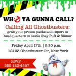 Ghostbusters Free Invite | Kailons 4Th Birthday | Ghostbusters   Ghostbusters Free Printables
