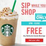 Giant: Free Starbucks Grande Beverage {Today Only}   Ftm   Free Starbucks Coupon Printable