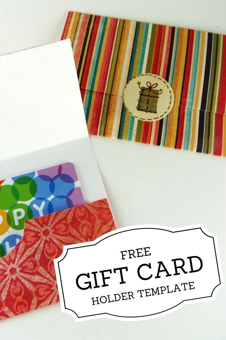 Gift Card Holder Templates | Christmas | Printable Gift Cards - Free Printable Christmas Money Holders