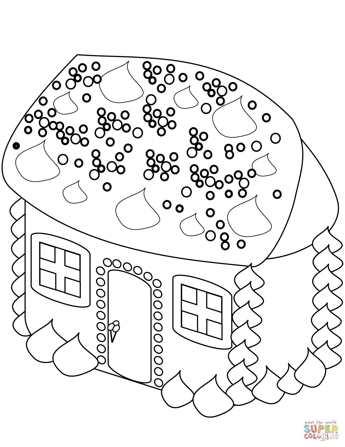 Gingerbread House Coloring Page | Free Printable Coloring Pages - Free Printable Gingerbread House