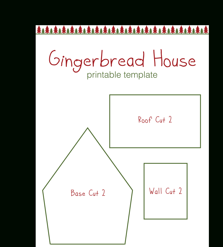Gingerbread House Templates For Free | Temploola - Free Printable Gingerbread House