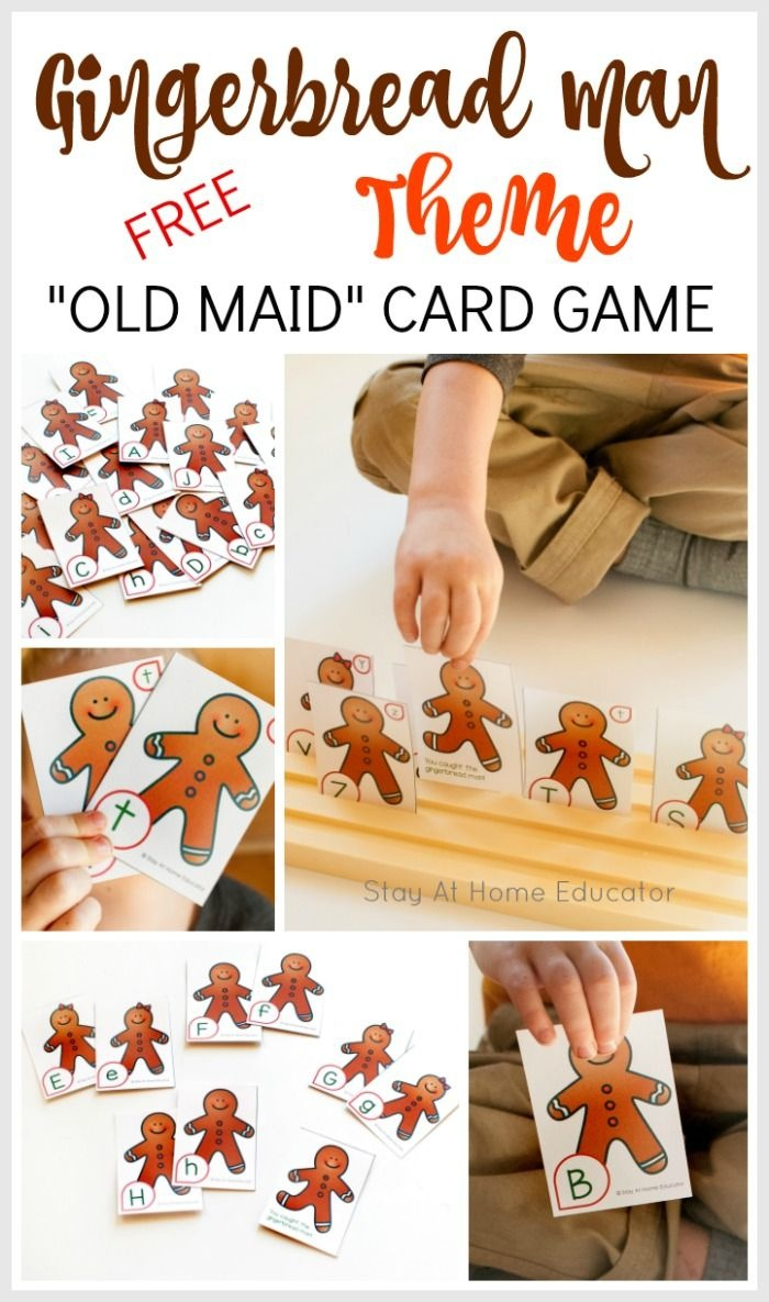 Gingerbread Man Theme Old Maid Card Game | Gingerbread Man - Free Printable Old Maid Card Game