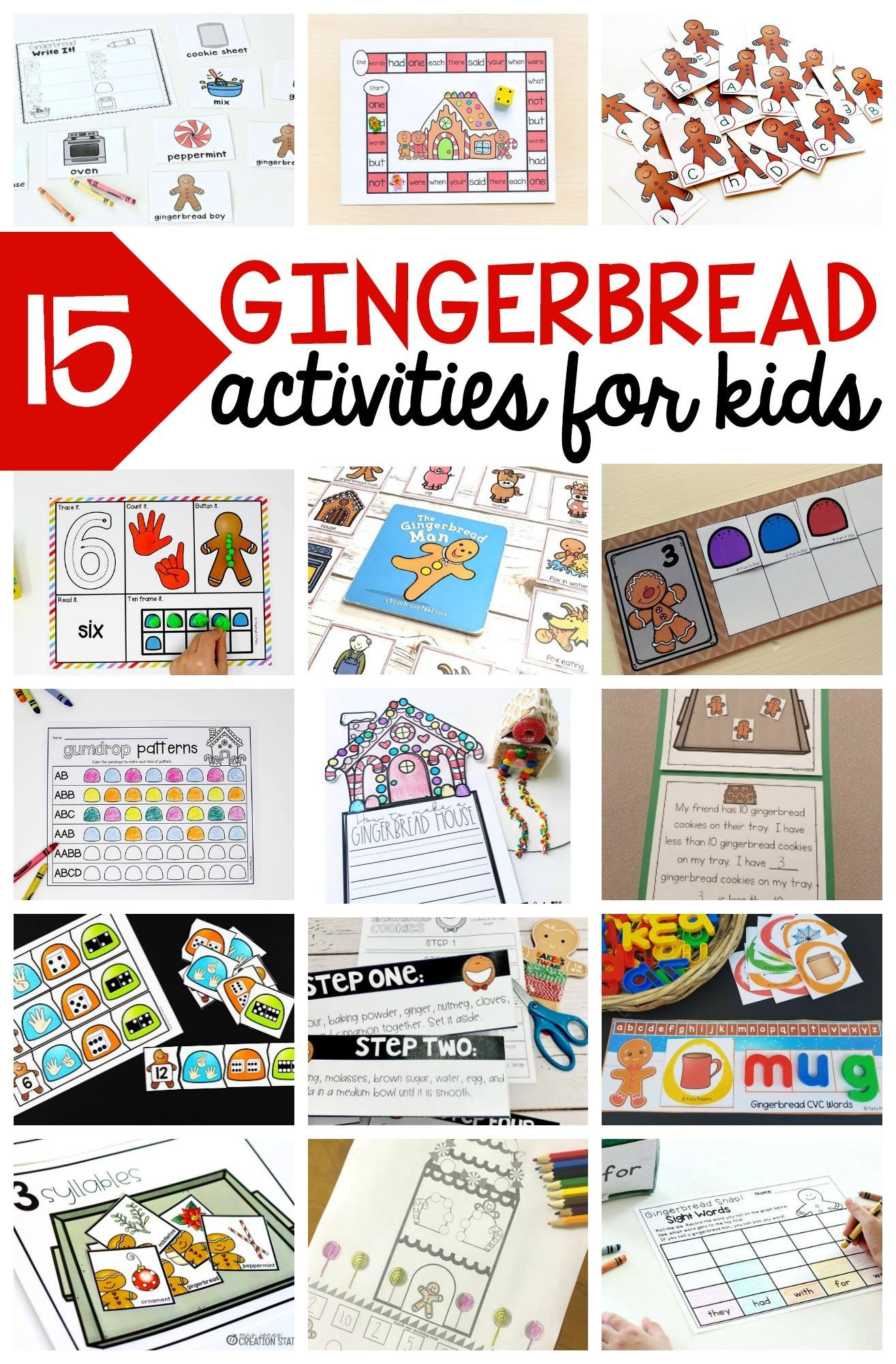 Gingerbread Man Theme Old Maid Card Game - Stay At Home Educator - Free Printable Old Maid Card Game