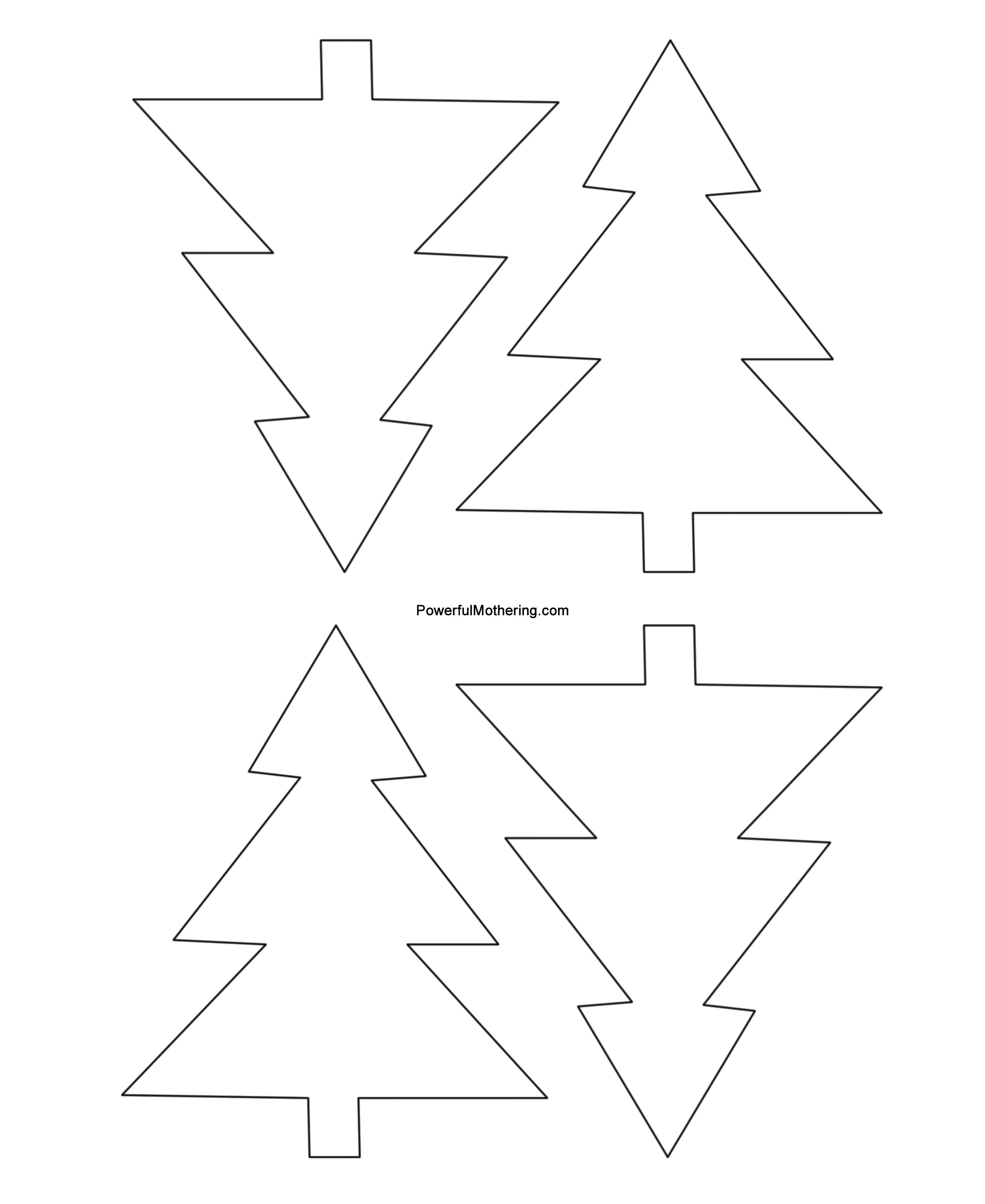 Gingerbread Men, Christmas Tree And Star Printables - Free Printable Christmas Tree Template