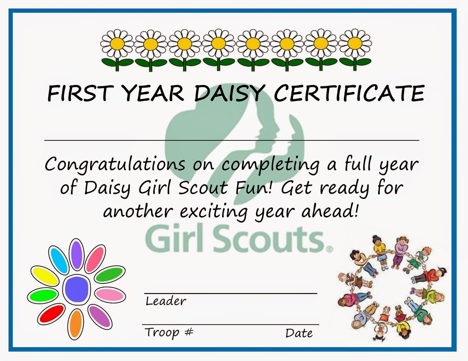 Girl Scouts Daisy Welcome Certificate Ideas | We Know How To Do It - Daisy Girl Scout Certificates Printable Free