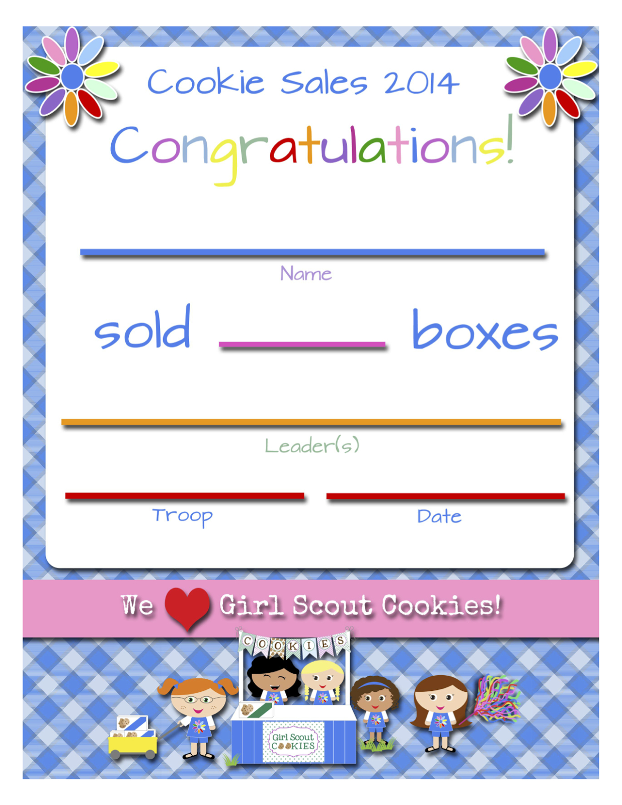 Girl Scouts: Free Printable Cookie Certificates | Girl Scouts | Girl - Daisy Girl Scout Certificates Printable Free