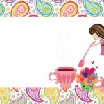 Girls Tea Party: Free Printable Invitations. | Oh My Fiesta For Ladies!   Free Tea Party Printables