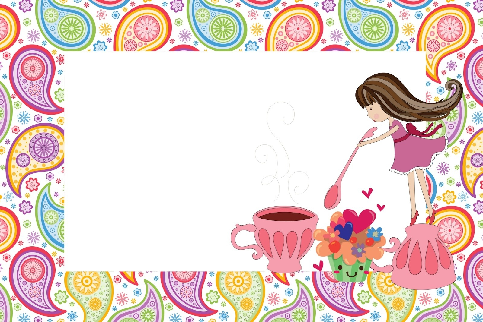 Girls Tea Party: Free Printable Invitations.   Oh My Fiesta For Ladies! - Free Tea Party Printables