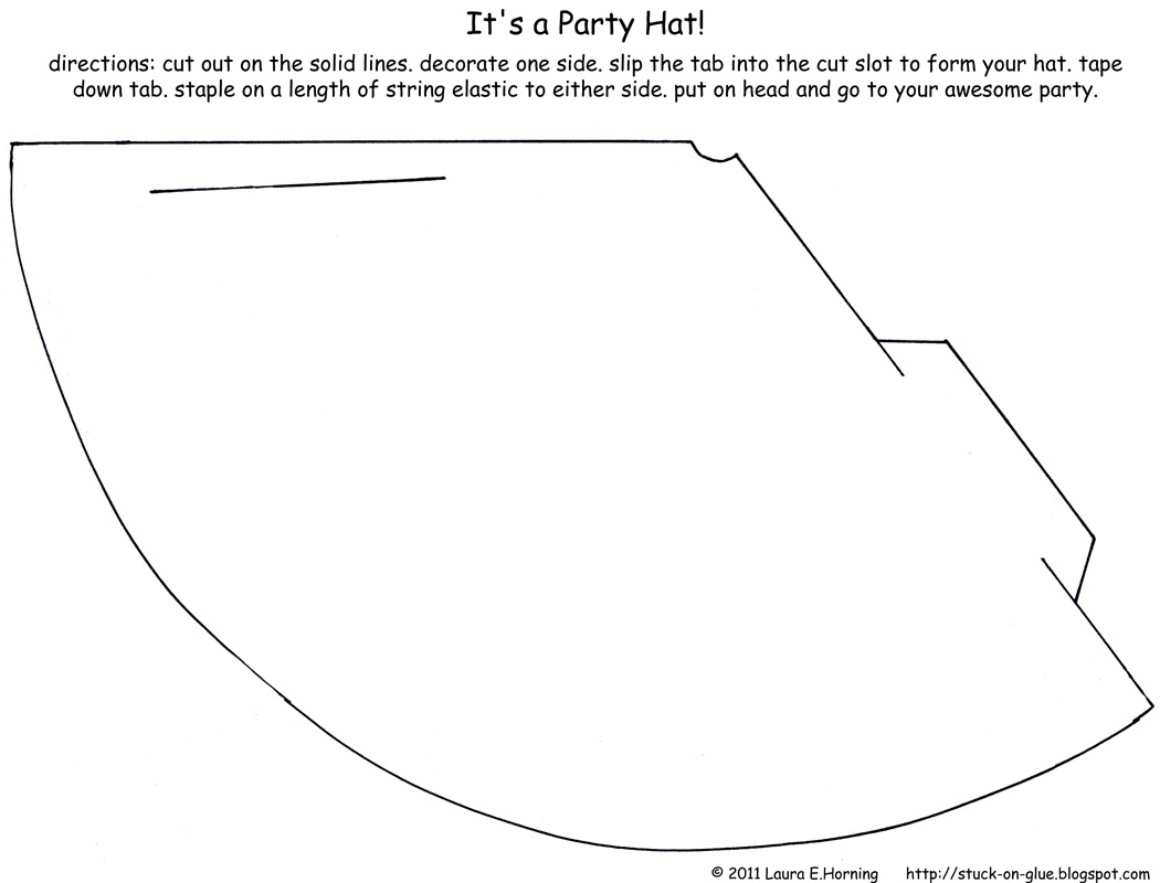 Give Your Octopus A Paintbrush (Or 8): It's A Party Hat! - Free Printable Party Hat