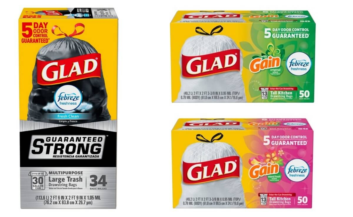 Glad Trash Bag Deal At Target: Free $10 Gift Card As Low As $4.64 - Free Printable Coupons For Trash Bags