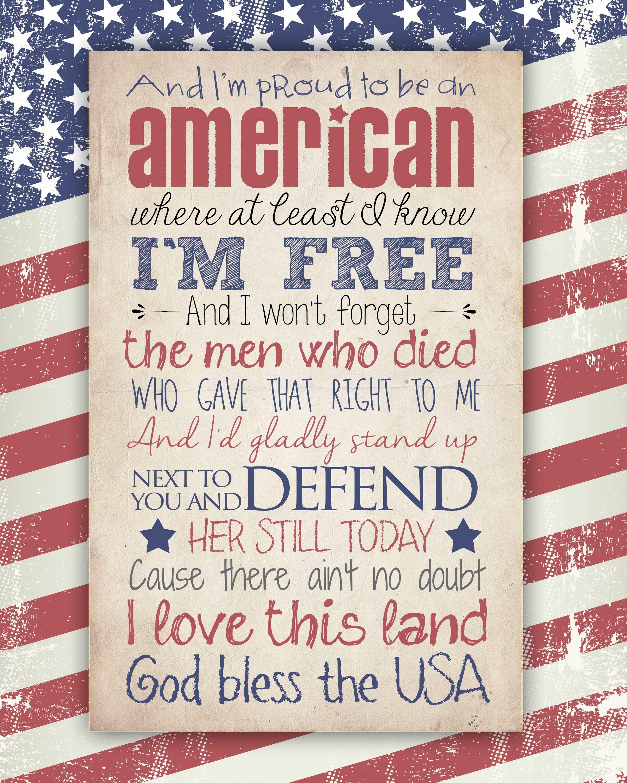God Bless The Usa Free Printable   Fonts & Printables   Patriotic - Free Printable God Bless Banner
