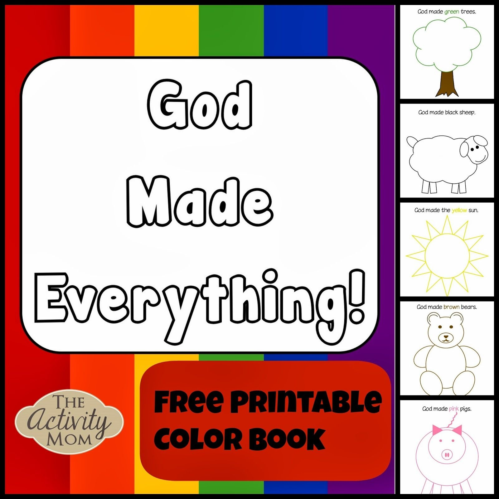 God Made Everything Colors Book (Printable) | Kid Blogger Network - Bible Lessons For Toddlers Free Printable