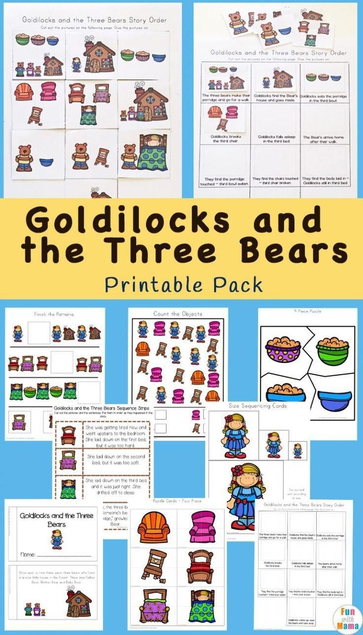 Goldilocks And The Three Bears Printable Pack   Free Printable - Free Printable Goldilocks And The Three Bears Story