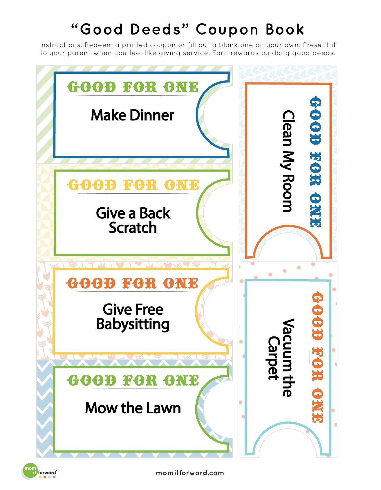 Good Deed Coupon Book Printables | Mommy 101 | Coupon Template - Make Your Own Printable Coupons For Free