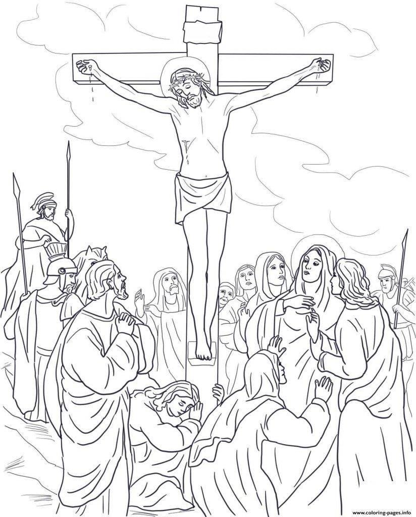 Good Friday Coloring Pages | Easter | Cross Coloring Page, Bible - Free Printable Good Friday Coloring Pages
