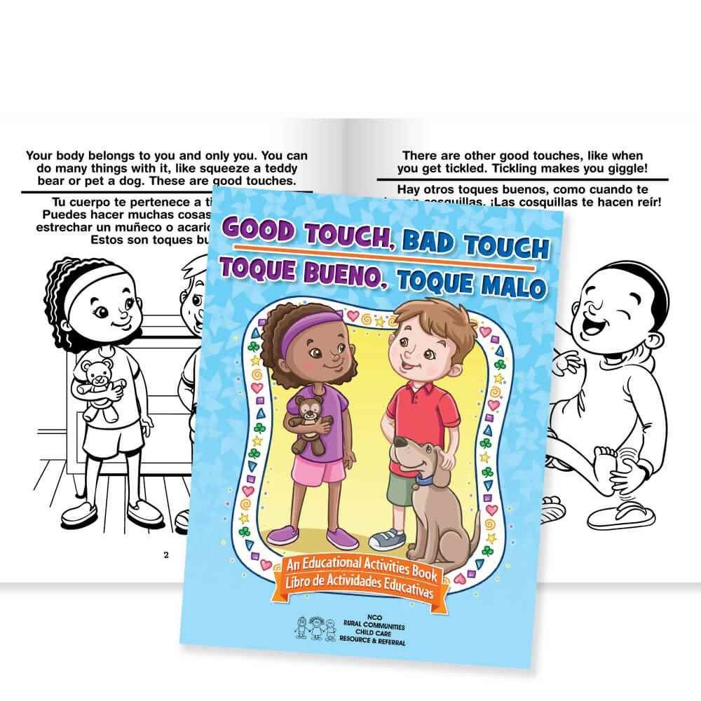 Good Touch, Bad Touch Activities Book (Bilingual) | Positive Promotions - Free Printable Good Touch Bad Touch Coloring Book