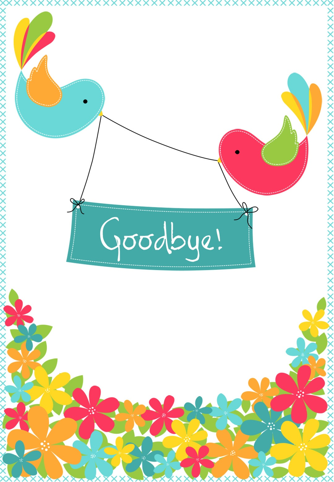 Goodbye From Your Colleagues - Good Luck Card (Free) | Greetings Island - We Will Miss You Cards For Coworker Printable Free