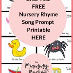 Grab Yourself A Free Nursery Rhyme Song Prompt Printable Here | Free   Free Printable Nursery Rhymes Songs