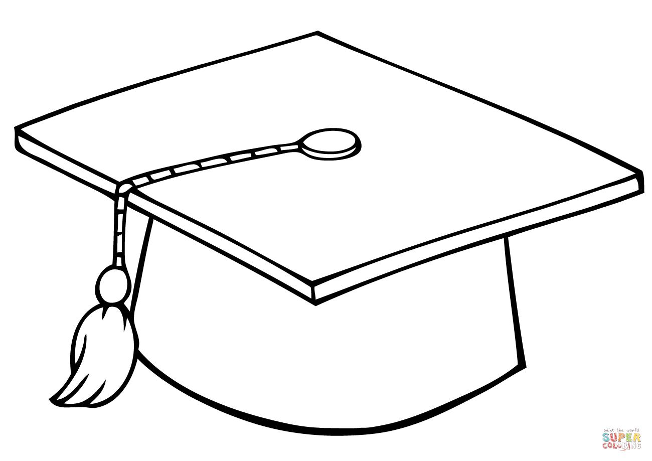 Graduate Cap Coloring Page | Free Printable Coloring Pages - Graduation Cap Template Free Printable