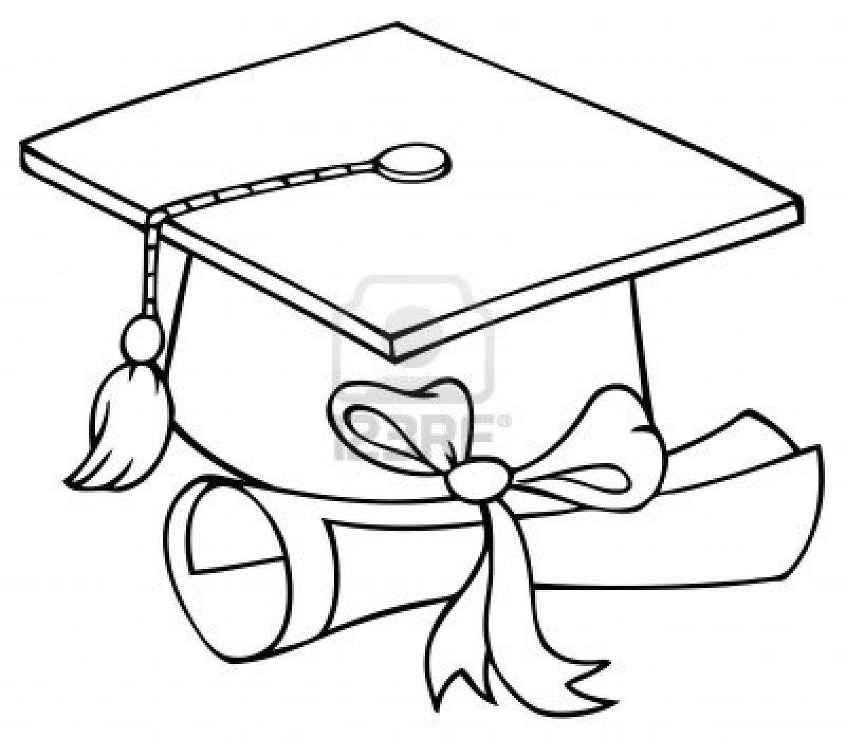 Graduation Cap Coloring Page | Graduation Cap Coloring Page - Graduation Cap Template Free Printable