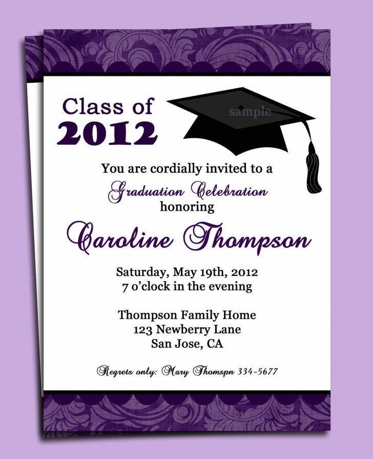Free Printable Graduation Dinner Invitations