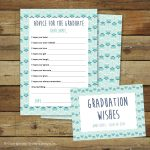 Graduation Wishes Advice Cards Printable Instant Download | Etsy   Free Printable Graduation Advice Cards