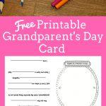 Grandparent's Day Card | Printables | Grandparents Day Cards   Grandparents Day Cards Printable Free
