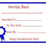Grandparents Day   Free Printables!   Grandparents Certificate Free Printable