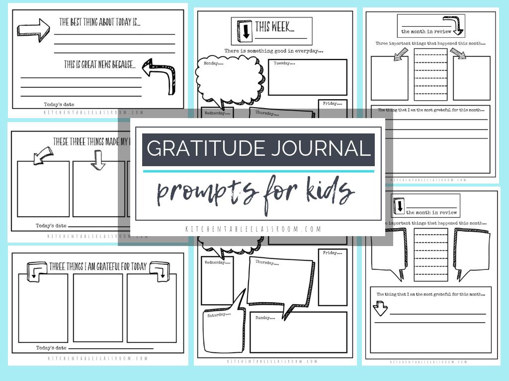 Gratitude Journal Prompts- Free Printable Gratitude Journal - Free Printable Gratitude Journal