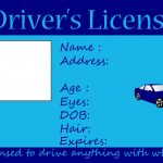 Great Template For Creating Any Type Of Licensesuch As A License   Free Printable Fake Drivers License