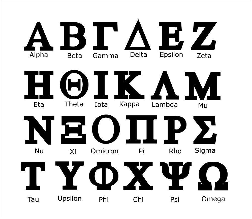 Greek Letters Svg, Greek Letters, Sorority Letters Svg, Sorority Svg - Free Printable Greek Letters