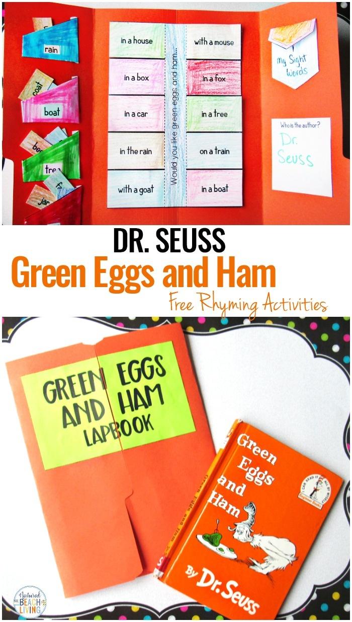 Green Eggs And Ham Activities For Preschool And Kindergarten - Green Eggs And Ham Free Printables