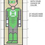 Green Lantern 8 Bit Bookmark Plastic Canvas Patternmichael   Free Printable Plastic Canvas Patterns Bookmarks