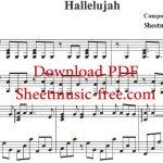 Hallelujah Piano Sheet Music Leonard Cohen   Youtube   Hallelujah Sheet Music Piano Free Printable